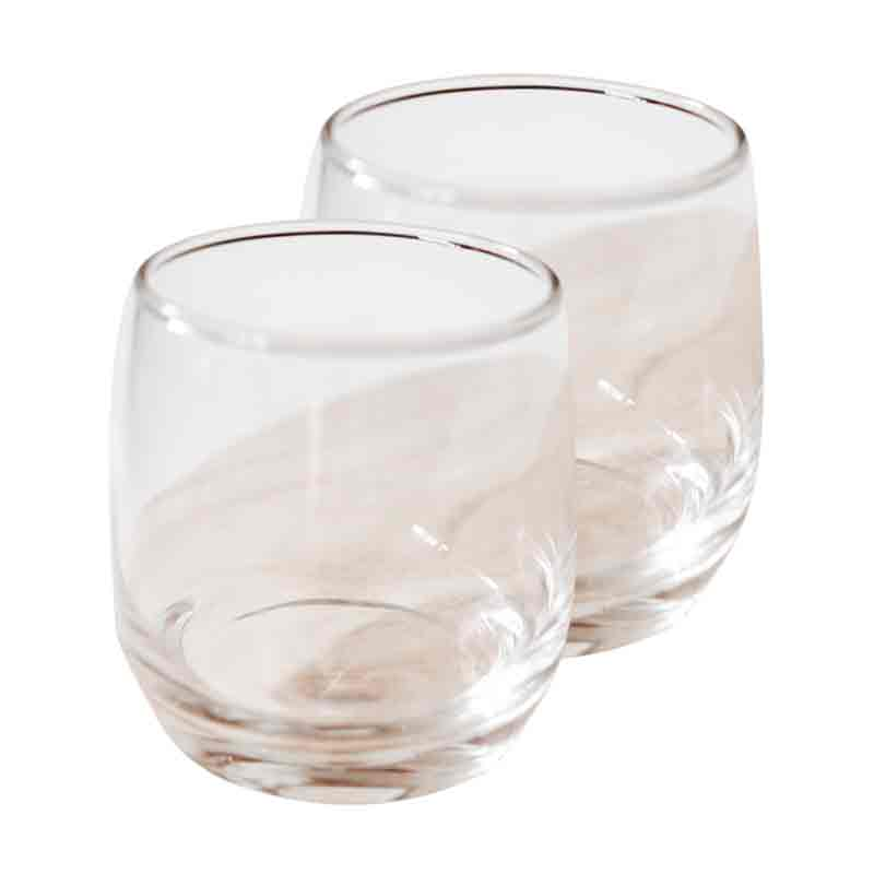 Ocean Cuba Rocking Glasses Round Bottom Gelas [2 pcs]