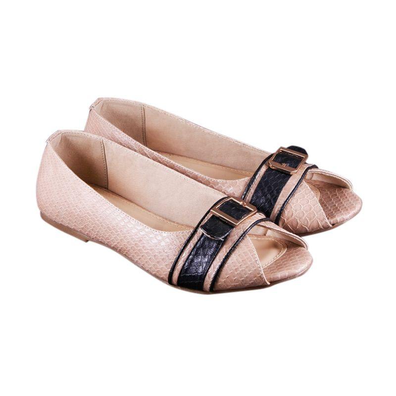 Odette Elleanor Beige Sepatu Flat
