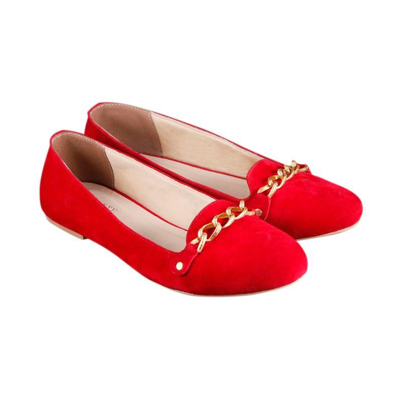Odette Miami Red Sepatu Flat