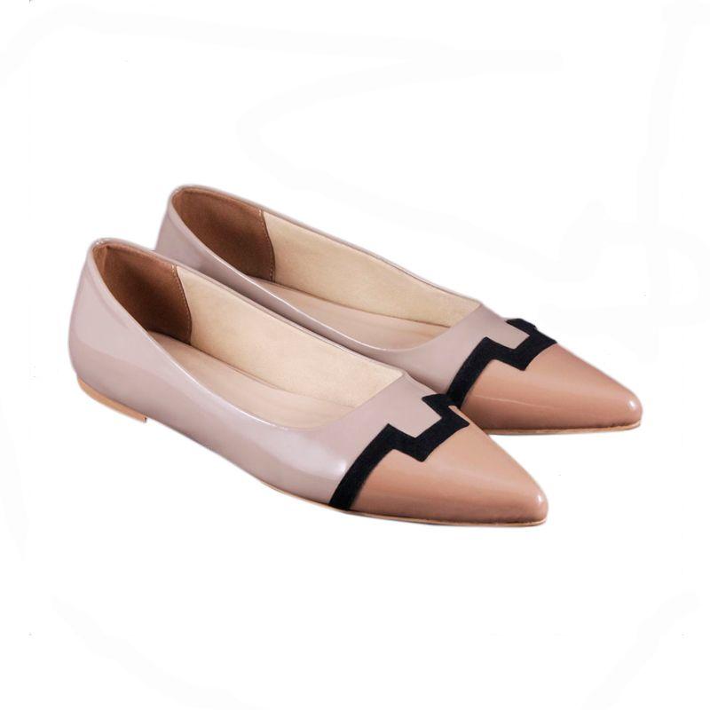 Odette Shoes Adhelle Beige Sepatu Wanita