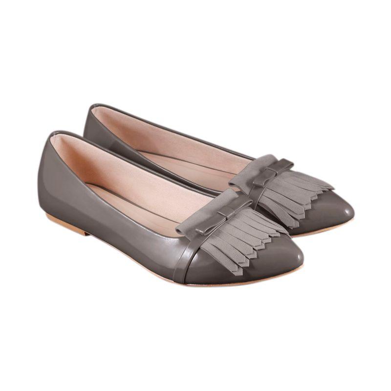 Odette Amora Grey Sepatu Flat