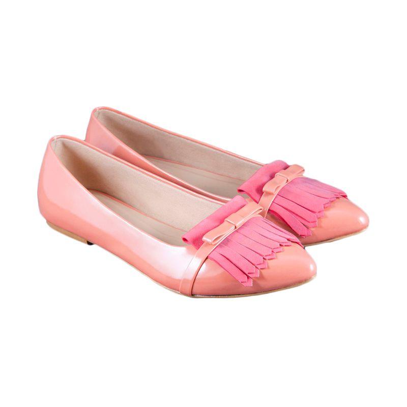 Odette Shoes Amora Pink Sepatu Flat