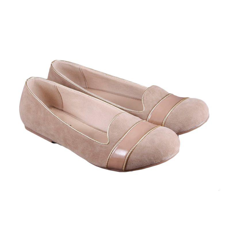 Odette Blaire Brown Sepatu Flat
