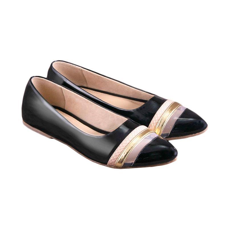 Odette Shoes Black Chantal Sepatu Wanita