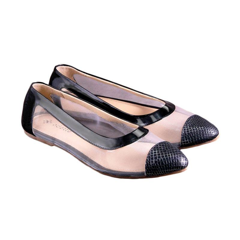 Odette Shoes Chloe Black Sepatu Wanita