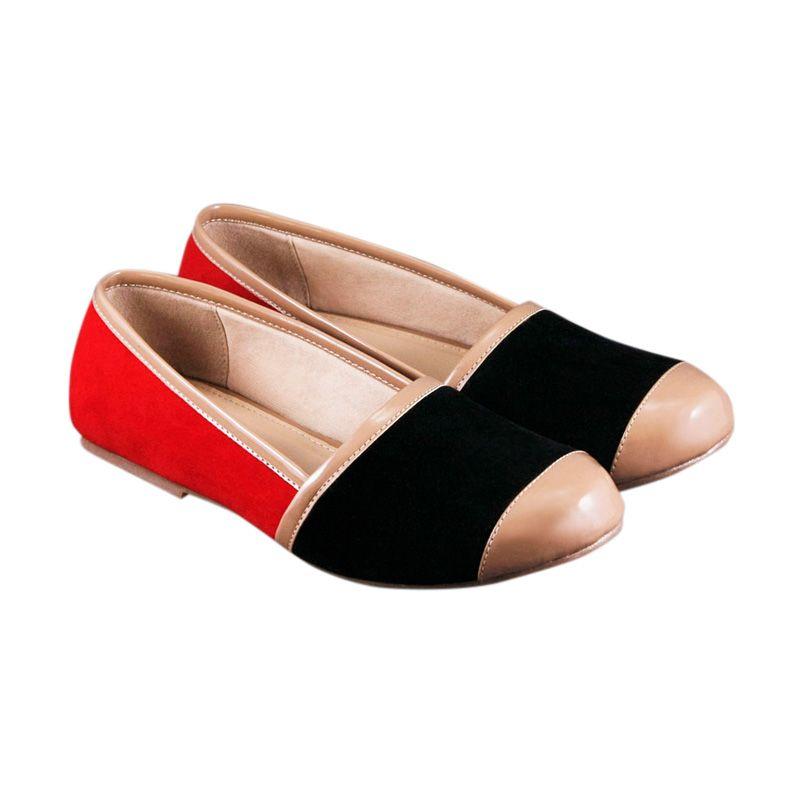 Odette Dakota Red Sepatu Flat