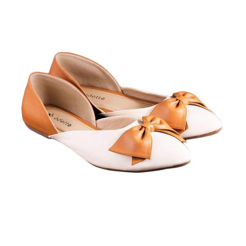 Odette Shoes White Dolly Sepatu Wanita