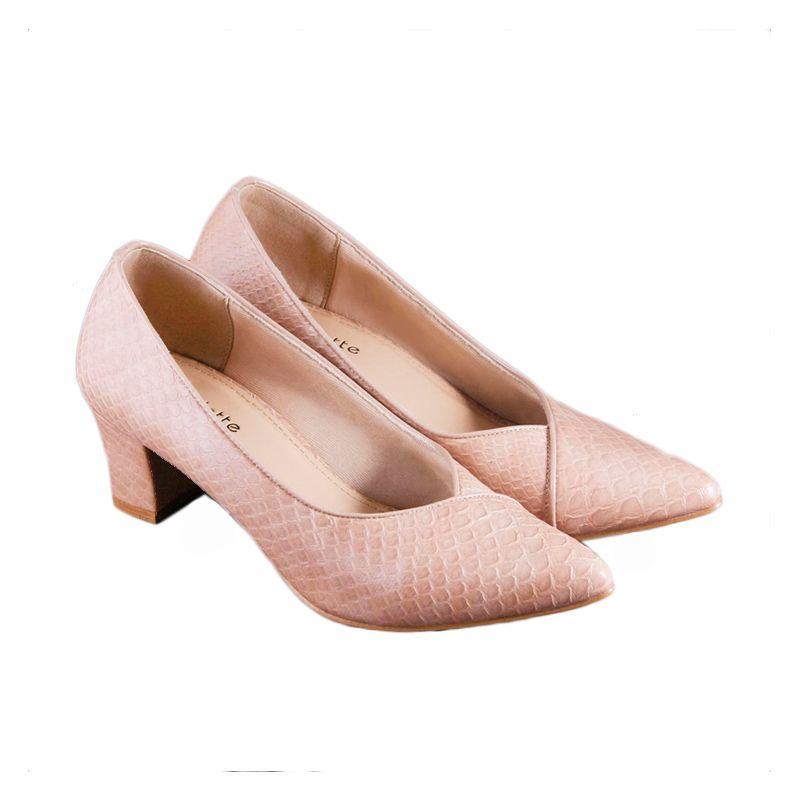 Odette Shoes Lawrence Beige Sepatu Wanita