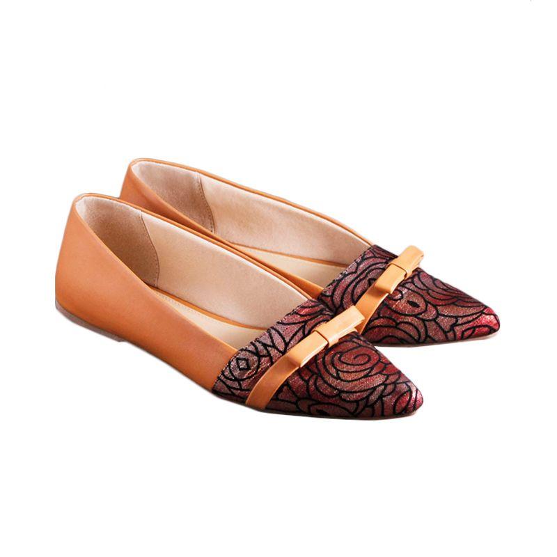 Odette Mistletoe Brown Sepatu Wanita