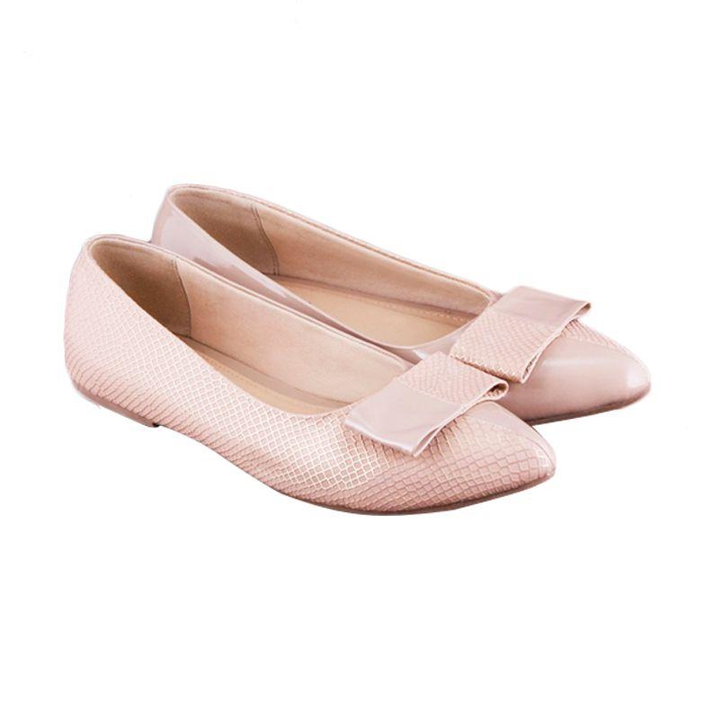 Odette Shoes Phoebe Beige Sepatu Wanita