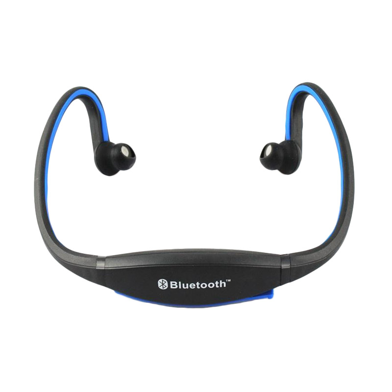 harga OEM BTH404 Sports Bluetooth Headset - Hitam Biru Blibli.com