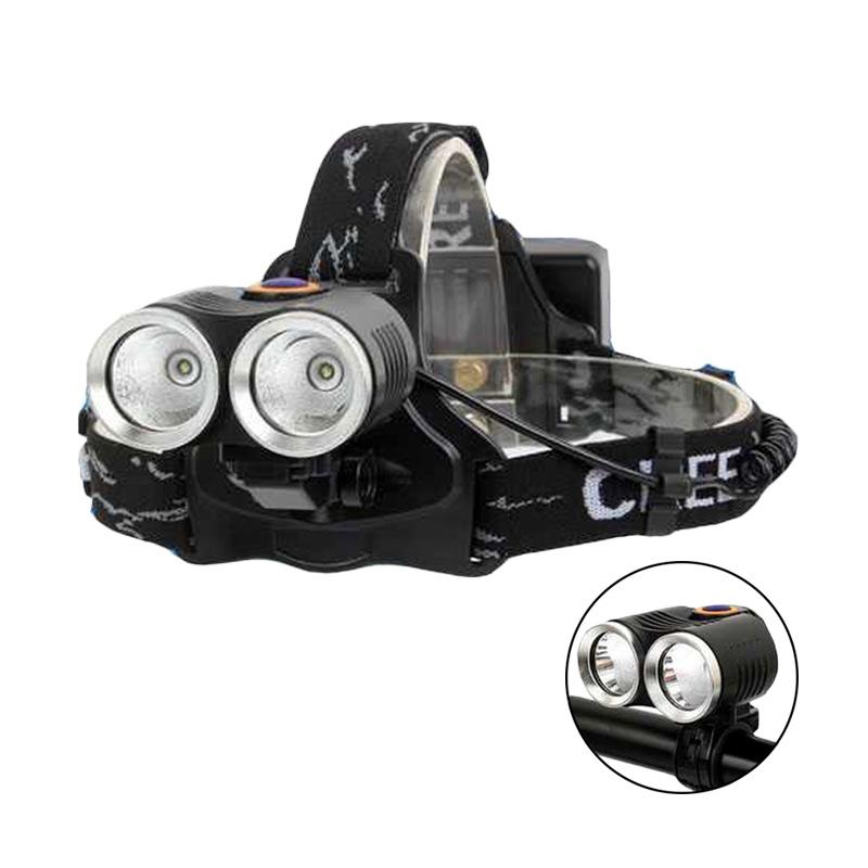 Jual OEM HLR2 With 2x Cree XP-E T6 Headlamp Senter Kepala ...