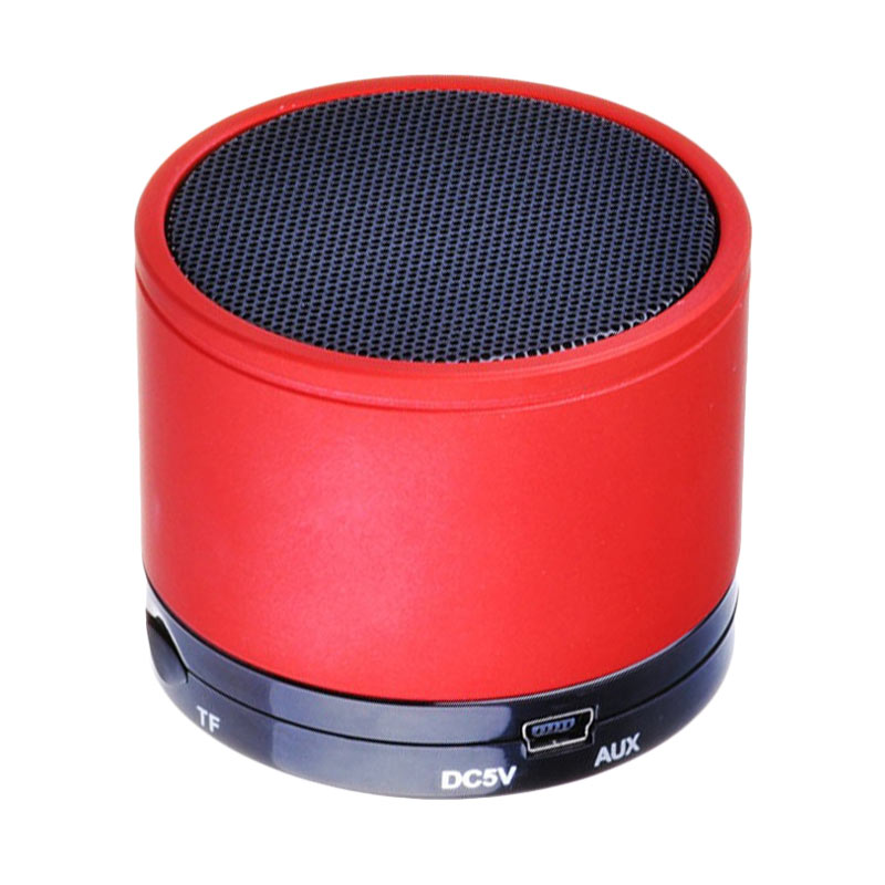 harga OEM Mini Super Bass S10 Bluetooth Speaker - Red Blibli.com