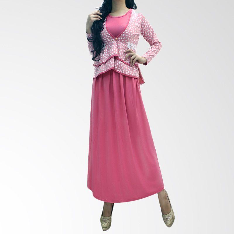 Ofashion Modern Latifah OF-AX-3060A Pink Gamis [Set Komplit]