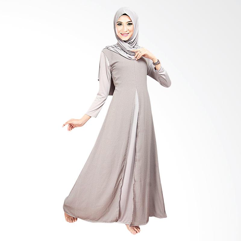 Ofashion Of Ax 5006a Gamis Turki Agatha Dress Kerudung Gaun Muslim Pakaian Lebaran Abu