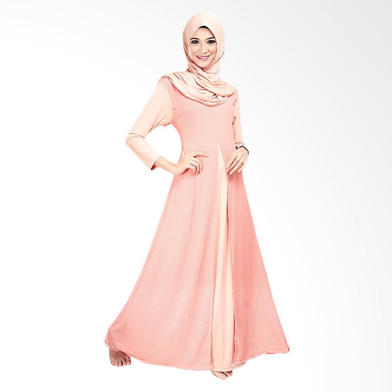 491d69ac9998 Ofashion OF-AX-5006A Gamis Turki Agatha Dress + Kerudung Gaun Muslim  Pakaian Lebaran