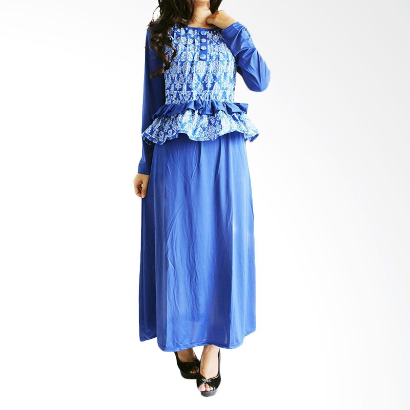 Ofashion Modern Akasia Batik OF-AX3074 Biru Gamis