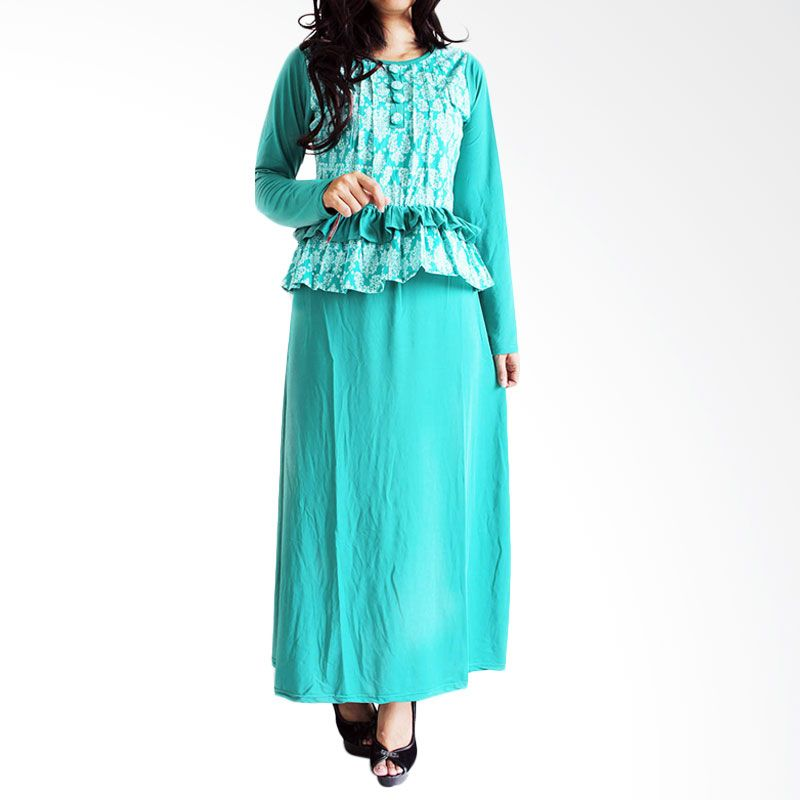 Ofashion Modern Akasia Batik OF-AX3074 Hijau Gamis