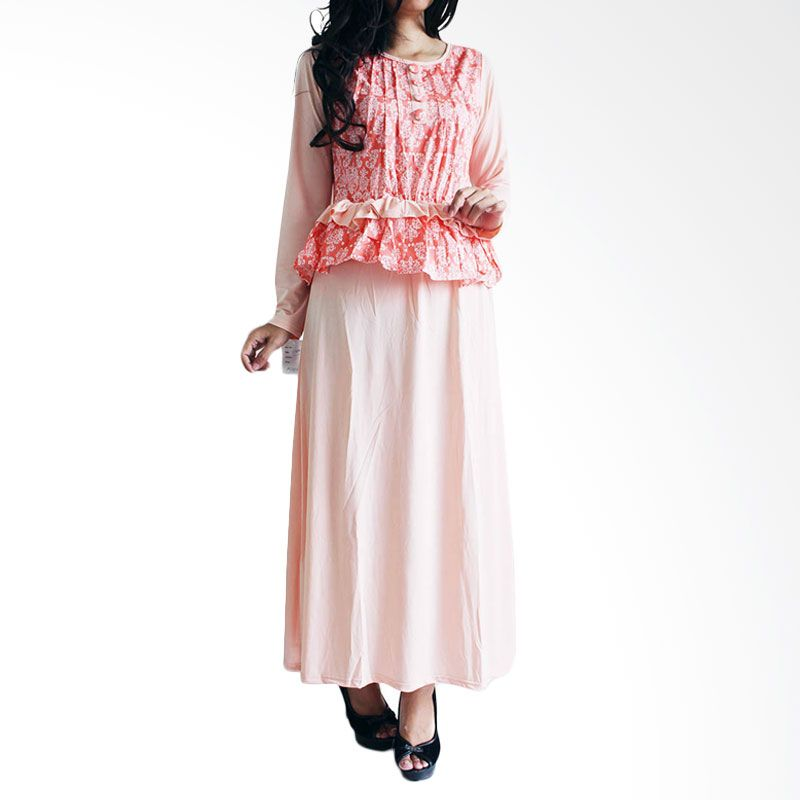 Ofashion Modern Akasia Batik OF-AX3074 Peach Gamis