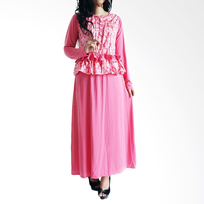 Ofashion Modern Akasia Batik OF-AX3074 Pink Gamis