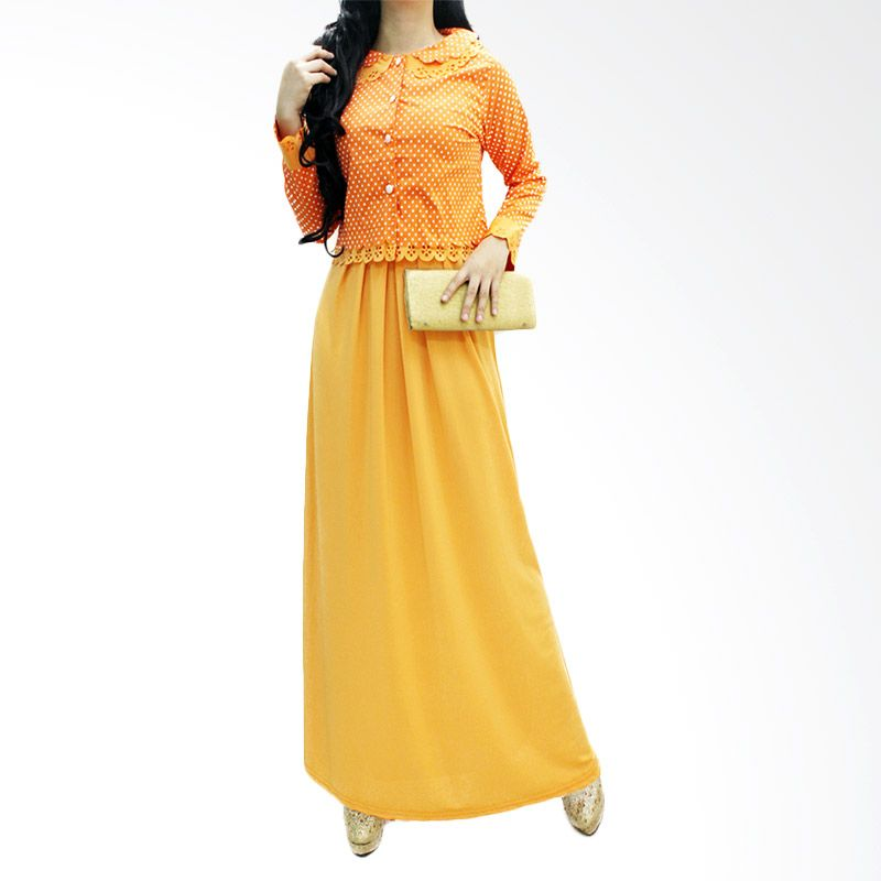 Ofashion Widya Milka Laser OF-AX-3058A Orange Gamis
