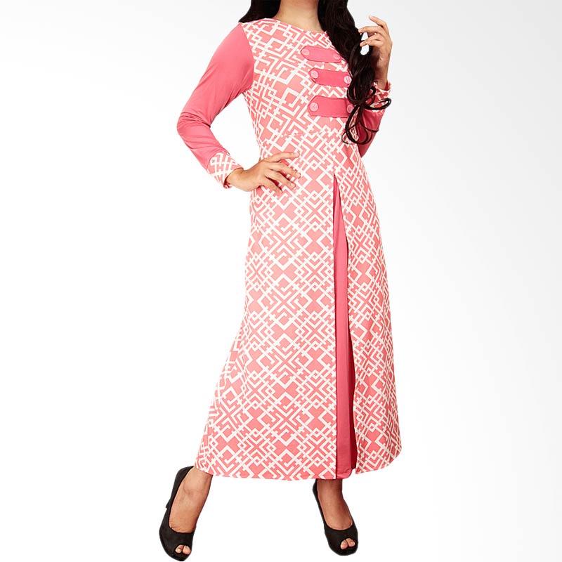 harga Ofashion OF-AX-5019Q Gamis Monica Waffle Dress Gaun Muslim Pakaian Muslimah - Pink Blibli.com
