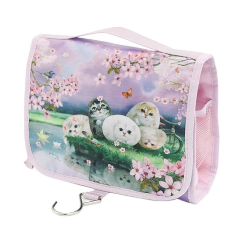 Henry Cats dan Friends Cherry Blossom FCT2-48 Cosmetic Travel Bag Tas Kosmetik