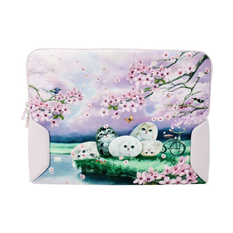 Henry Cats and Friends Cherry Blossom SLS1-48 Tas Laptop [13.3 Inch]