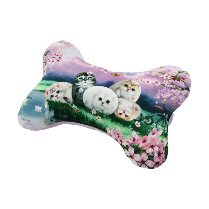 Henry Cats and Friends HNC1-48 Cushion Bantal Mobil [2 Pcs]