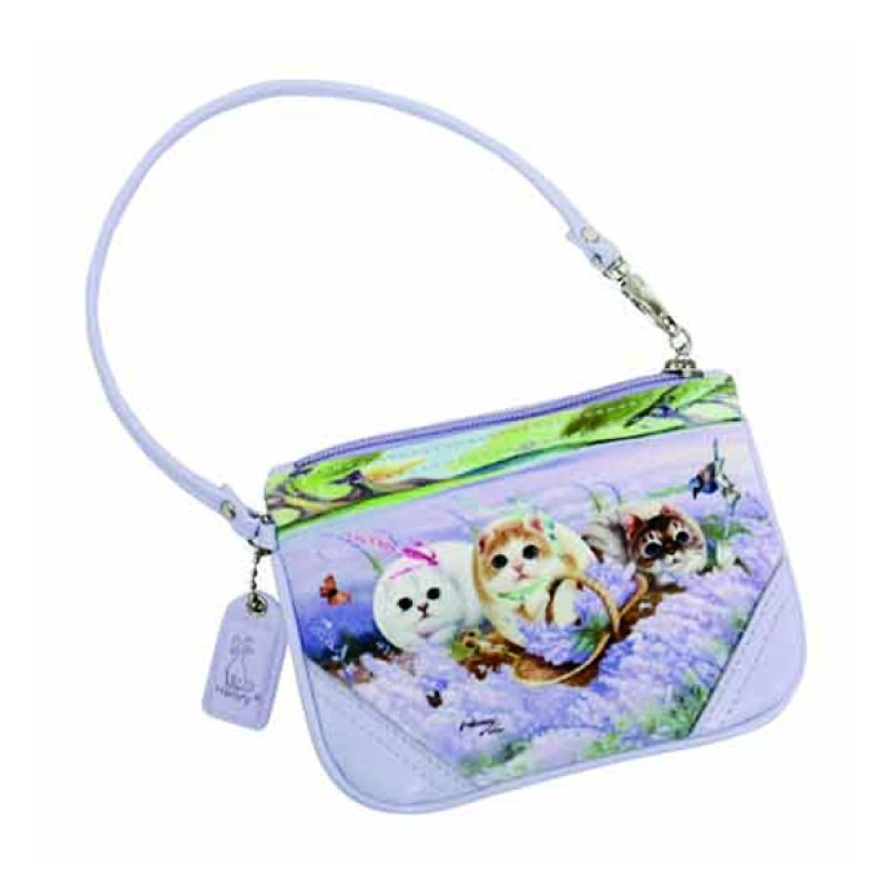 Henry Cats dan Friends Lavender in The Wind FWR2-61 Tas Tangan