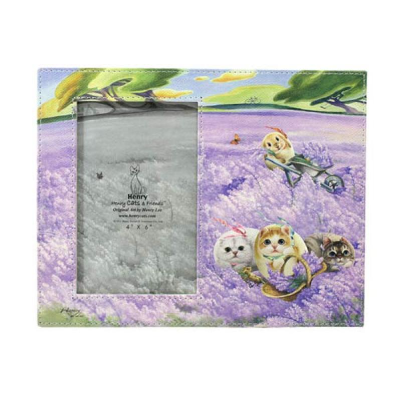 Henry Cats & Friends In The Wind HPF4-61 Lavender Photo Frame