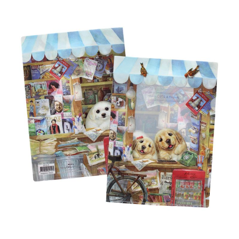 Henry Cats & Friends A Fun Shop Day SFF1A-25 Single Page Folder