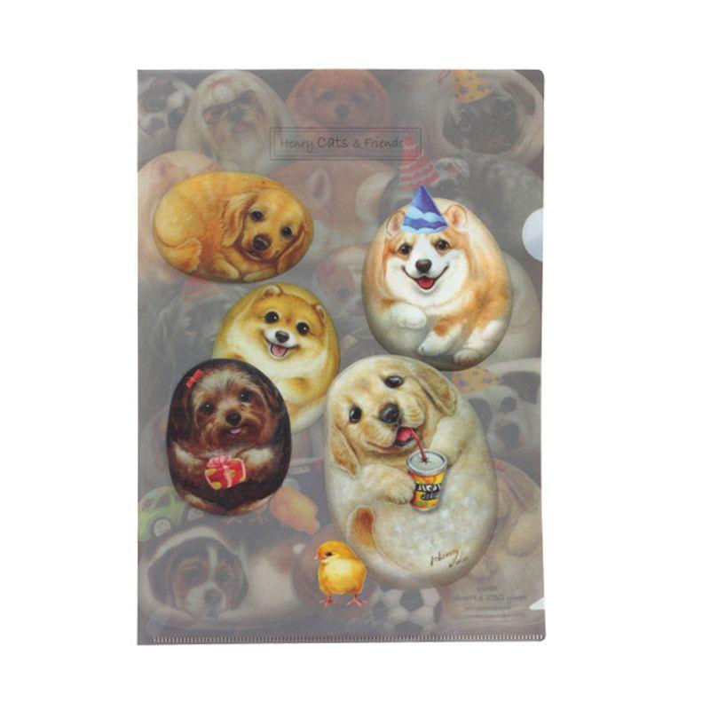 Henry Cats & Friends Henry Dogs SFF1A-16 A Single Page Folder