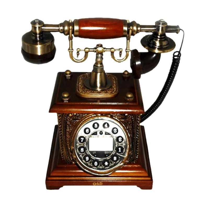 harga Ohome Telepon Antik Coklat Classic AN-T050 Dekorasi Rumah Blibli.com