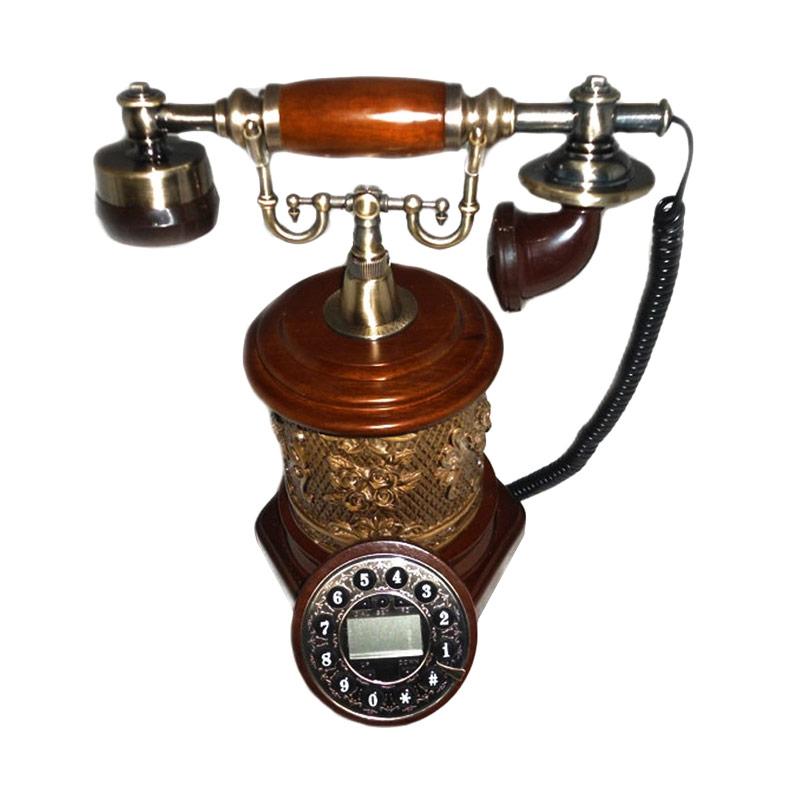 harga Ohome Telepon Antik Coklat Classic AN-T051 Dekorasi Rumah Blibli.com