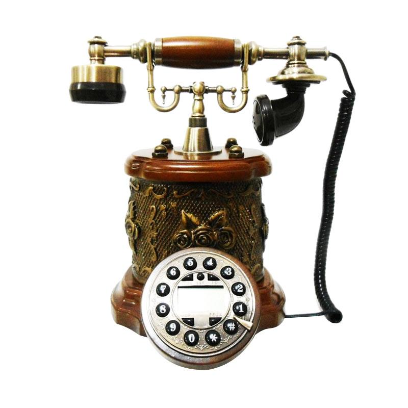harga Ohome Telepon Antik Coklat Classic AN-T052 Dekorasi Rumah Blibli.com