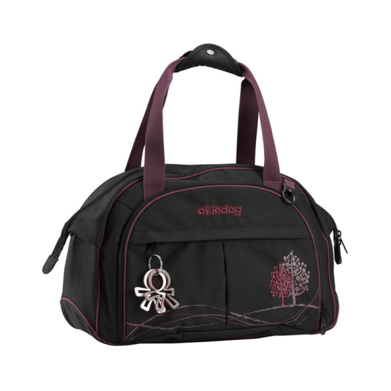 Okiedog Dahoma Shuttle Black/Purple Diaper Bag