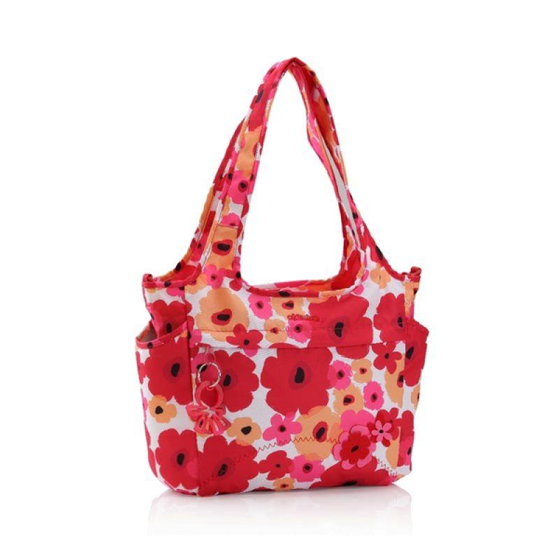 Okiedog Flower Power Saha Red/Pink Diaper Bag