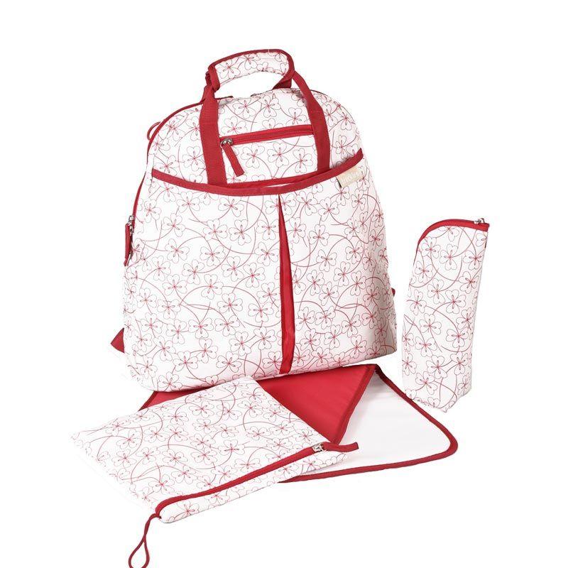 Okiedog Freckles Twilight White Red Backpack Diaper Bag