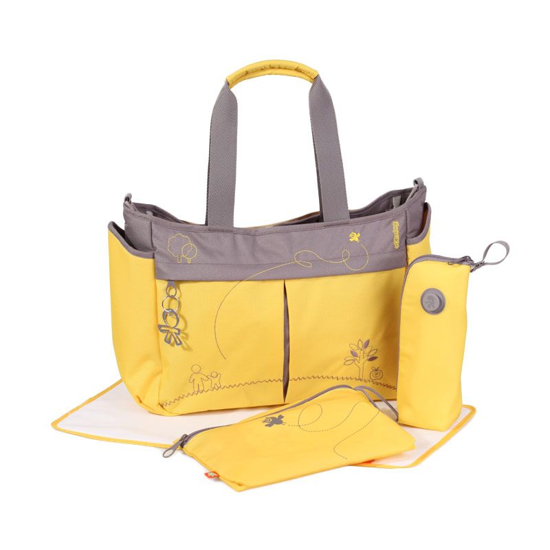 Okiedog Metro Mondrian Yellow Diaper Bag