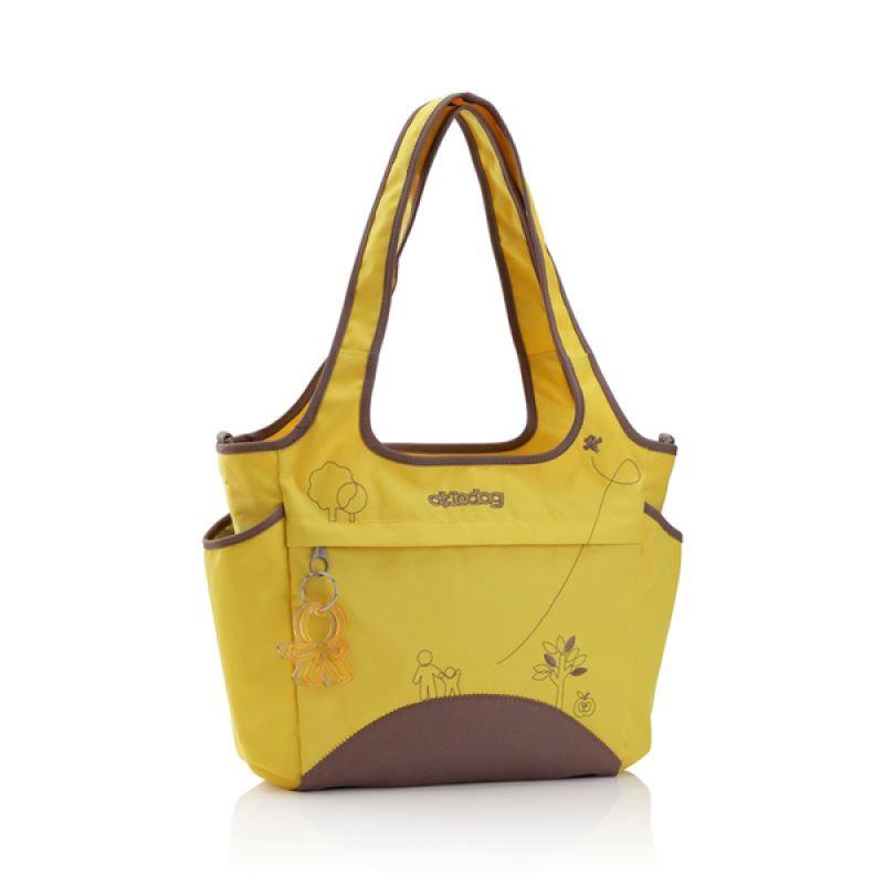 Okiedog Mondrian Saha Yellow Diaper Bag
