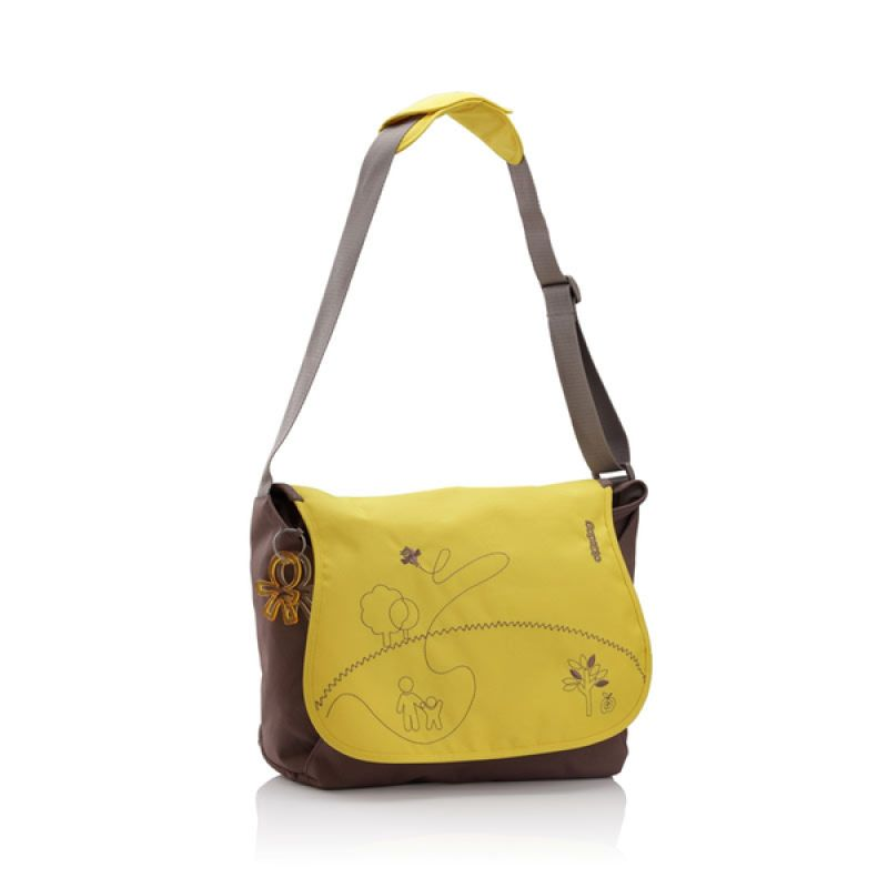 Okiedog Mondrian Sphinx Yellow Diaper Bag