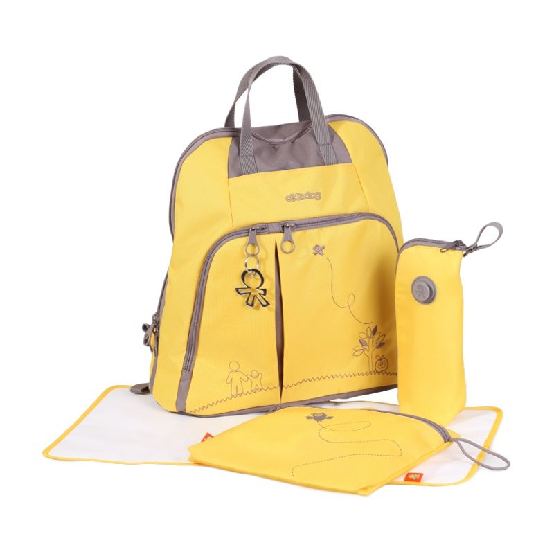 Okiedog Trek Mondrian Yellow Diaper Bag