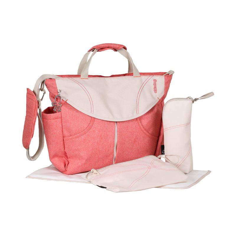 Okiedog Urban Coral Sumo Red Diaper Bag