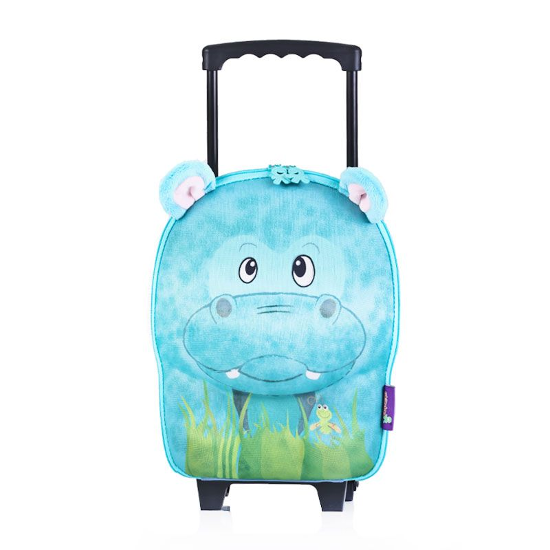 Okiedog Wildpack Hippo Small Trolley Tas Sekolah