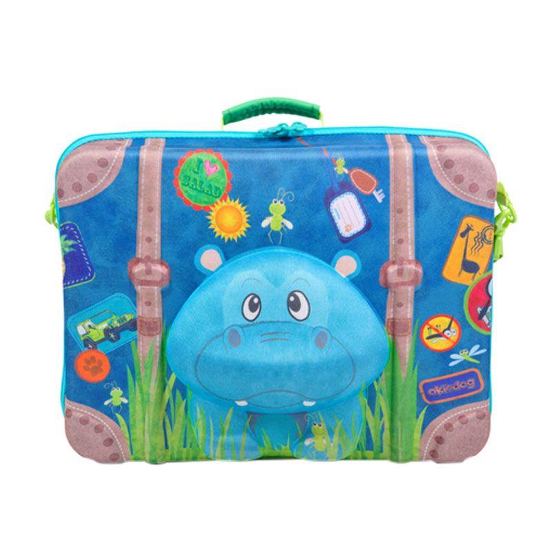 Okiedog Wildpack Hippo Suitcase Tas Sekolah