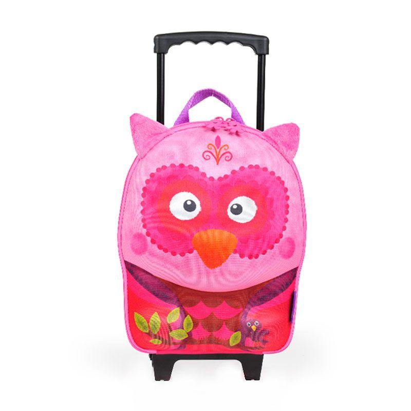 Okiedog Wildpack Owl Small Trolley Tas Sekolah