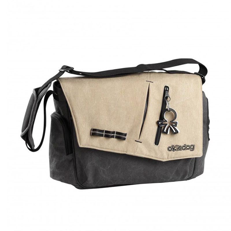 Okiedog Yukon Samurai Beige Grey Diaper Bag
