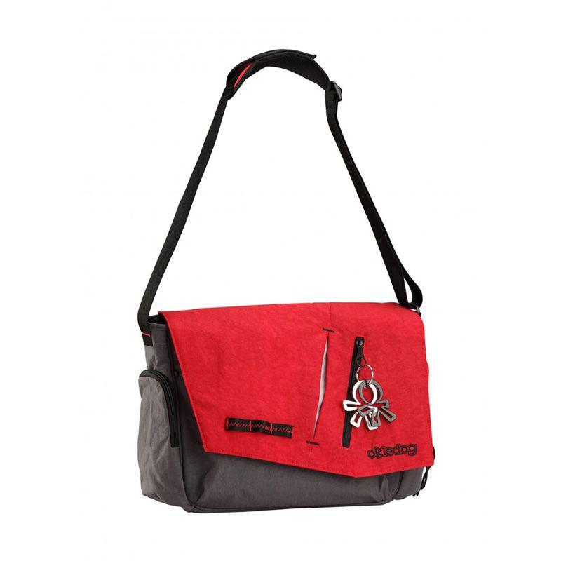 Okiedog Loft Samurai Red Grey Diaper Bag