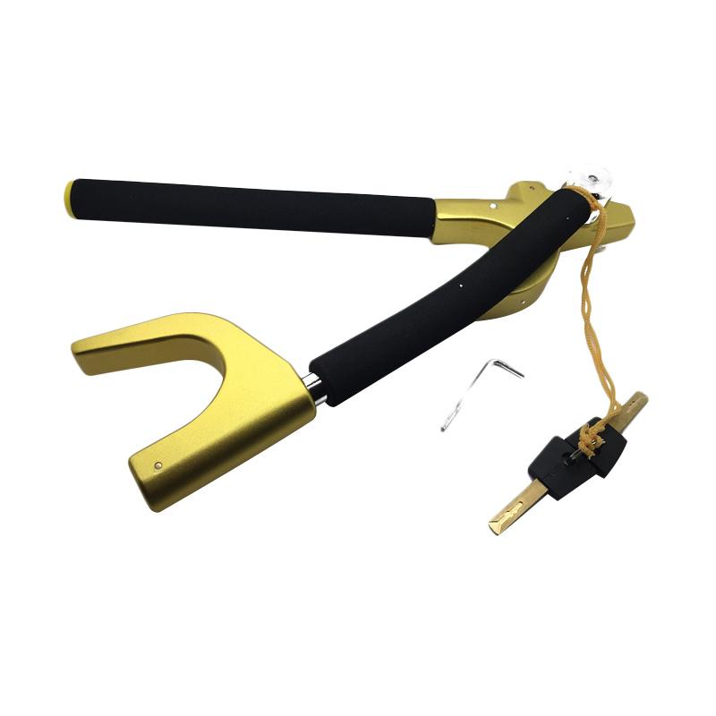 harga Oklock V8X Folding Steering Wheel Lock Kuning Kunci Pengaman Mobil Blibli.com